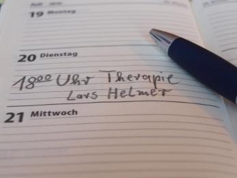 Seite des Terminkalendars von Lars Helmer.
